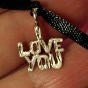 Jewelry - Vintage I Love You Message Sterling Silver Pendant